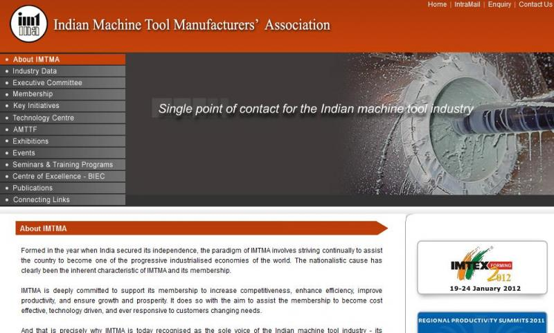 IMTMA - Technology Leaders in Machine Tool Industry