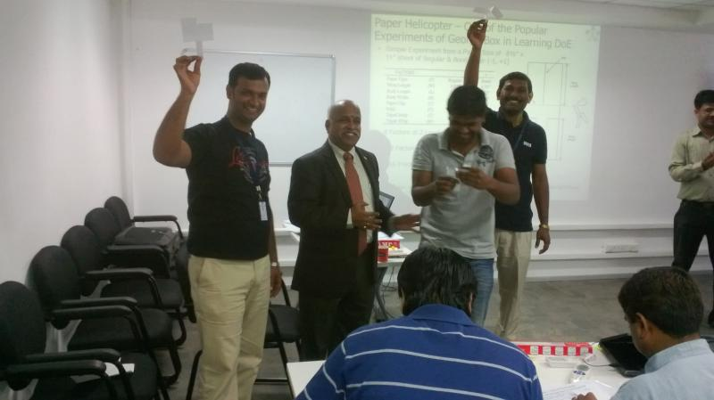Ramanan and Team with Paper Helicopter - Activities During Learning