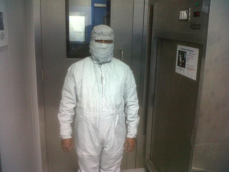 Ramanan - Before Entering Clean Room Manufacturing Facility