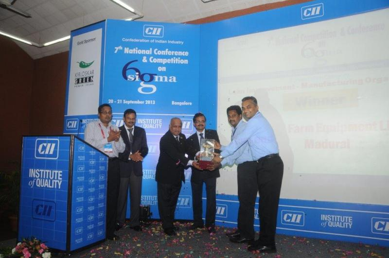 Ramanan's Precious Moments - Giving Away the CII 7th National Six Sigma Quality